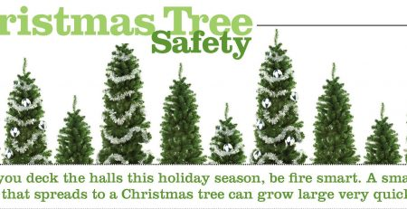 Christmas tree safety tips provided by the NFPA.