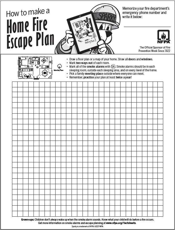 fire prevention week  how to make a fire escape plan