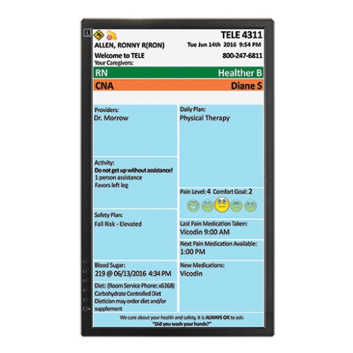 West-Com Nurse Call Systems Patient CareBoard